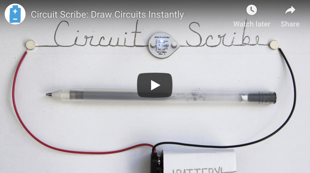 Video preview of Circuit Scribe pen